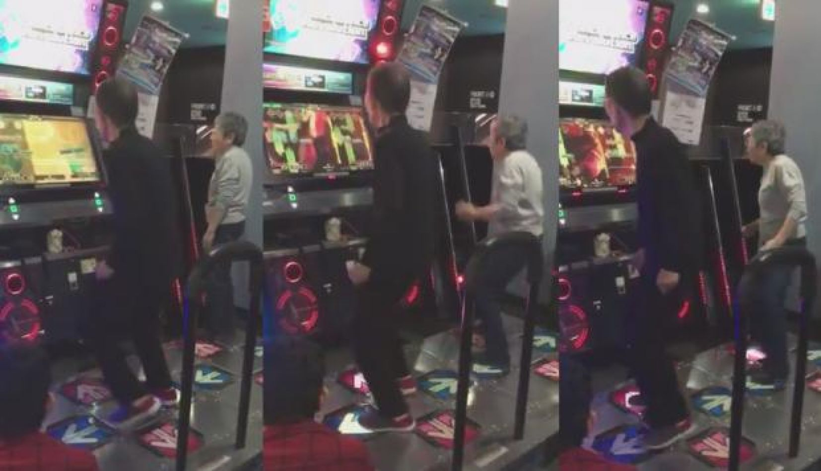 Ancianos de 70 años la rompen en Dance Dance Revolution (VIDEO)